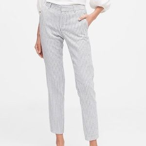 Banana Republic Avery Pant Striped Mid Rise Ankle